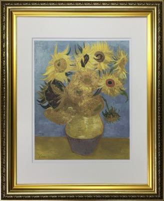 アートフレーム 名画 フィンセント・ファン・ゴッホ Vincent van Gogh ひまわり ifa-60901 絵画 壁掛け おしゃれ