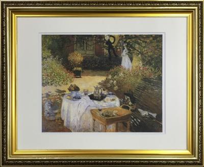 アートフレーム 名画 クロード・モネ Claude Monet 庭園での昼食 ifa-60904 絵画 壁掛け おしゃれ