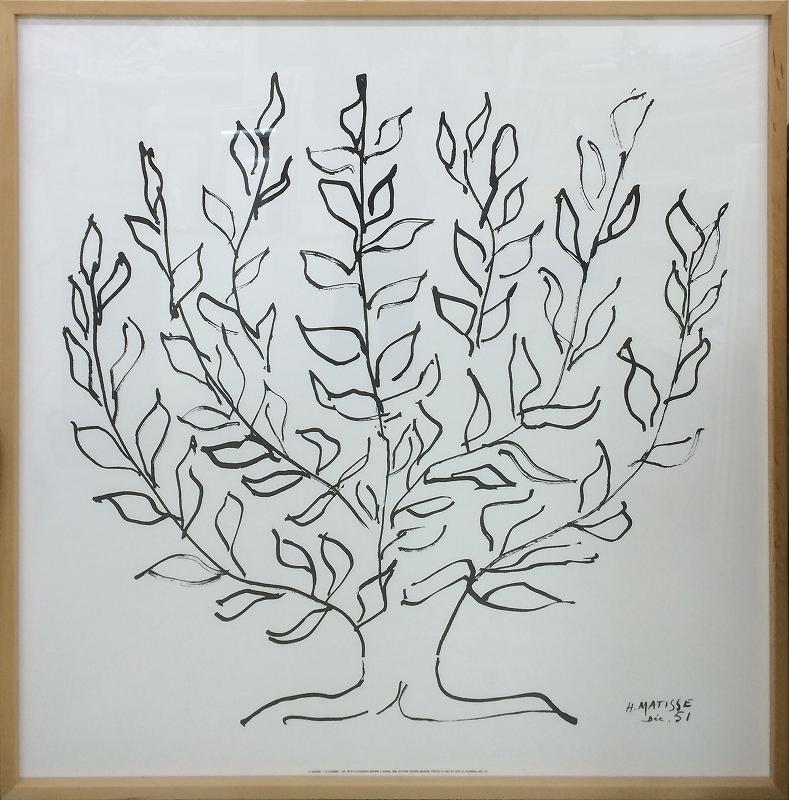 アートフレーム アンリ・マティス Henri Matisse Le platane(Silkscreen) ihm-60625 絵画 壁掛け おしゃれ 送料無料