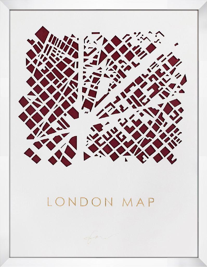 アートフレーム 3D MAP ART LONDON imp-61123 絵画 壁掛け おしゃれ 送料無料