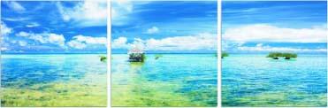 アートフレーム  ND Concept Frame 3枚set 海2 ind-60549 絵画 壁掛け おしゃれ 送料無料
