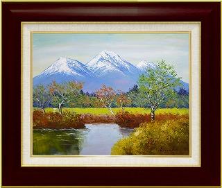 油絵 オイルペイントアート 遠藤 勝 妙高山 F10 iop-61371 絵画 壁掛け 手書き 送料無料
