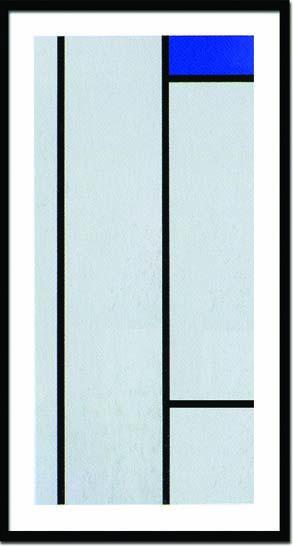 アートフレーム ピエト・モンドリア Piet Mondrian Composition(blanc/bleu)(Silkscreen) ipm-14381 絵画 壁掛け おしゃれ 送料無料