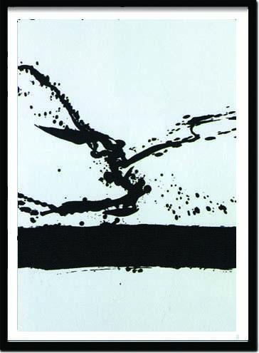 アートフレーム ロバート・マザーウェル Robert Motherwell Beside the sea N24,1962(Silkscreen) irm-14387 絵画 壁掛け おしゃれ