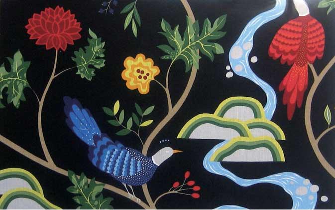 ファブリック 北欧アート scandinavian fabric panel boras Birdland BK-L isf-12407 絵画 壁掛け おしゃれ 送料無料
