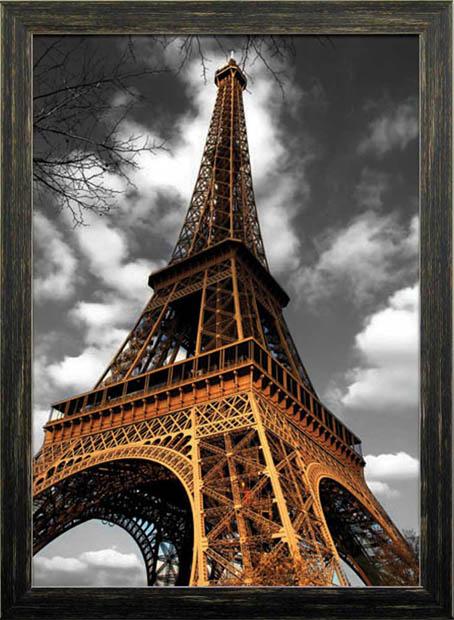 3Dアート 3D Poster Eiffel Tower I itd-70108 絵画 壁掛け おしゃれ 送料無料