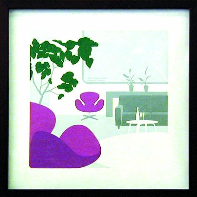 アートフレーム やすかわ としあき T.Yasukawa ity-14040 絵画 壁掛け 安川敏明 北欧 モノクロ モノトーン モダン おしゃれ かっこいい 送料無料