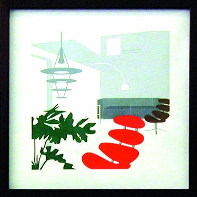 アートフレーム やすかわ としあき T.Yasukawa ity-14042 絵画 壁掛け 安川敏明 北欧 モノクロ モノトーン モダン おしゃれ かっこいい 送料無料