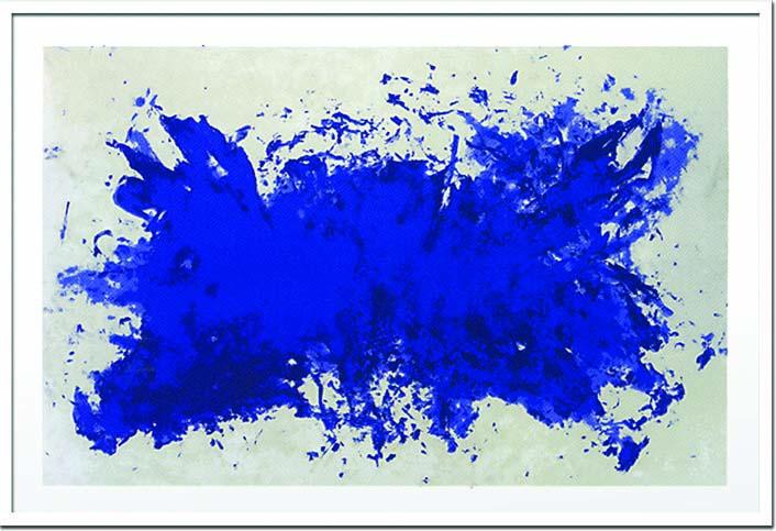 アートフレーム イブ・クライン Yves Klein Hommage a Tennessee Williams,1960(Silkscreen) iyk-14371 絵画 壁掛け おしゃれ 送料無料