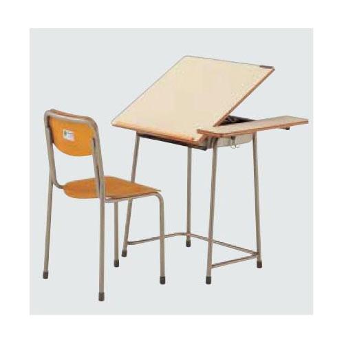 机・椅子セットAZ-7110-Wセット 5A号 送料無料[メール便不可](備品 美術机・工作台・椅子)(個人宅配送不可)