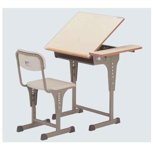 机・椅子セットA7200-Wセット 送料無料[メール便不可](備品 美術机・工作台・椅子)(個人宅配送不可)