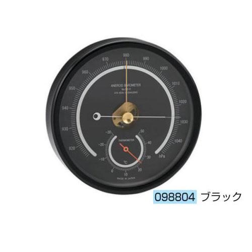 アネロイド気圧計(OZ-11-BL)ブラック 送料無料[メール便不可](計測器 温度・気象 夏休み 冬休み 理科 自由研究セット 工作キット)