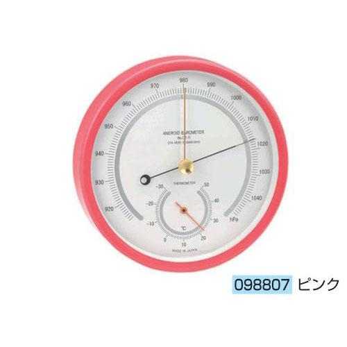 アネロイド気圧計(OZ-11-P)ピンク 送料無料[メール便不可](計測器 温度・気象 夏休み 冬休み 理科 自由研究セット 工作キット)
