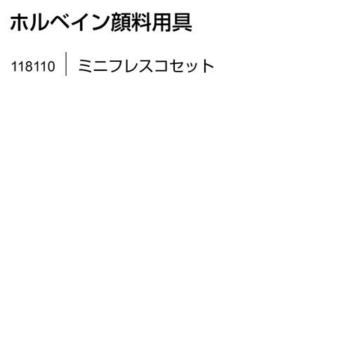 ホルベイン 顔料用具 ミニフレスコセット 送料無料[メール便不可](絵具 顔料)