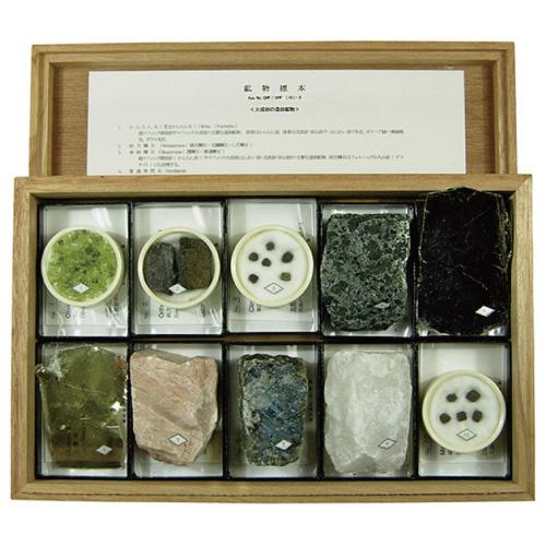 鉱物標本(10種) 送料無料[メール便不可](地学 大地の学習 夏休み 自由研究 理科)