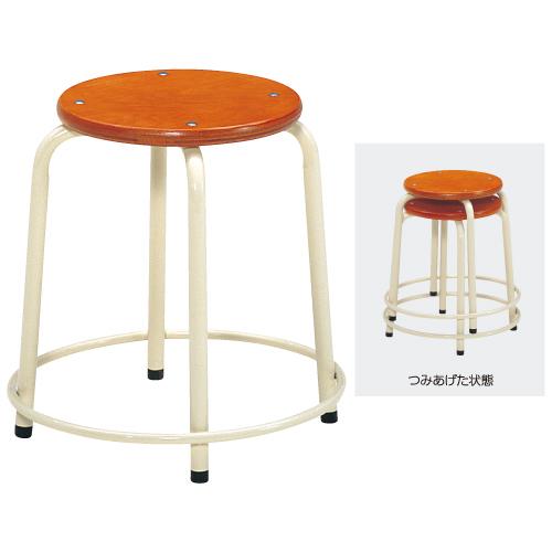 丸椅子 AS-710-I 高460mm 送料無料[メール便不可](備品 美術机・工作台・椅子)(個人宅配送不可)