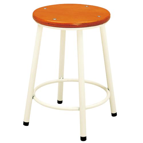 丸椅子 AS-700-I 高380mm 送料無料[メール便不可](備品 美術机・工作台・椅子)(個人宅配送不可)