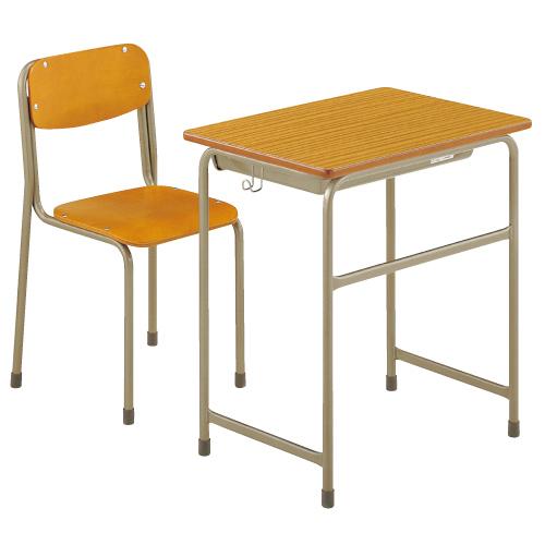 机・椅子セットAKGZ-2450-BDT1セット 6号 送料無料[メール便不可](備品 美術机・工作台・椅子)(個人宅配送不可)