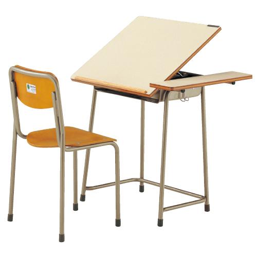 机・椅子セットAZ-7110-Wセット 6A号 送料無料[メール便不可](備品 美術机・工作台・椅子)(個人宅配送不可)