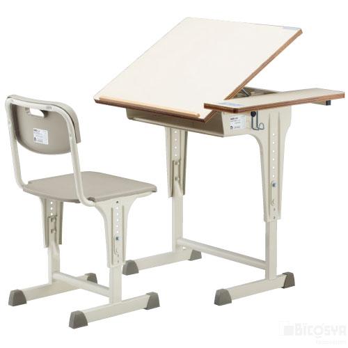 美術机・椅子セットA7210-IWセット 送料無料[メール便不可](備品 美術机・工作台・椅子)