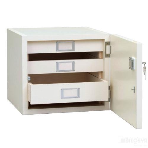 卓上安全保管庫 鍵付 送料無料[メール便不可](備品 作品乾燥棚・画板整理箱・画板)