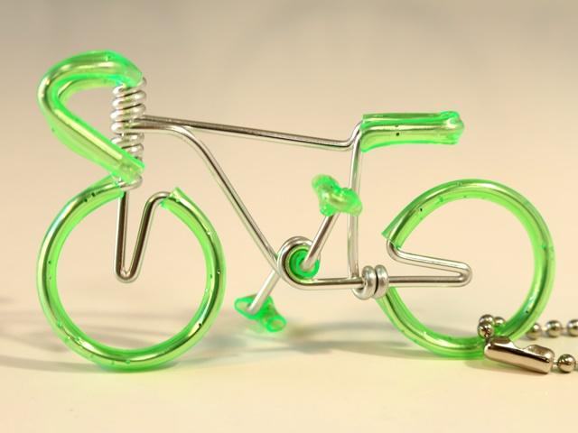 可爱的钥匙链 / 钥匙环自行车 / 钢丝自行车钥匙扣 / 男士 / 自行车