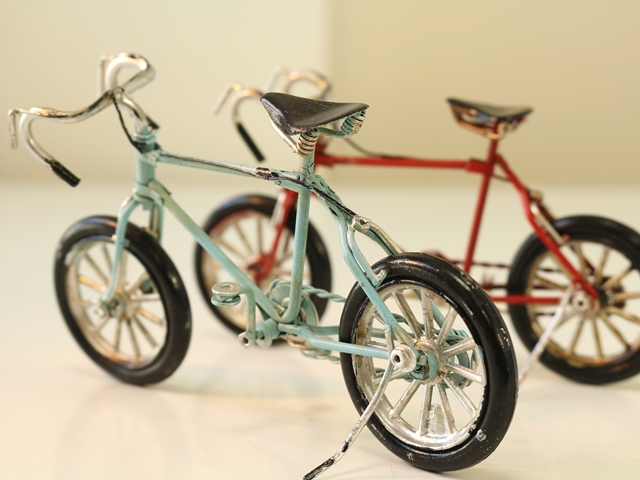Just like miniature bicycle stand / miniature bikes model / miniature bicycle figurine real modern Mania vintage car good old bicycle bike red ■ A0135