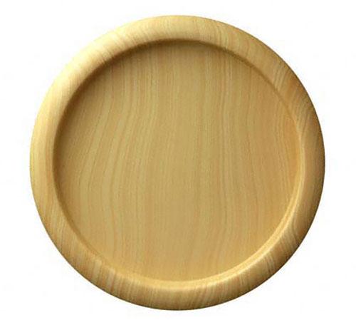 樹脂製の引手(横引き用)。接着剤止め。 BIDOOR(ビドー) PP-639 木目量産丸 モクレン サイズ大 2個入