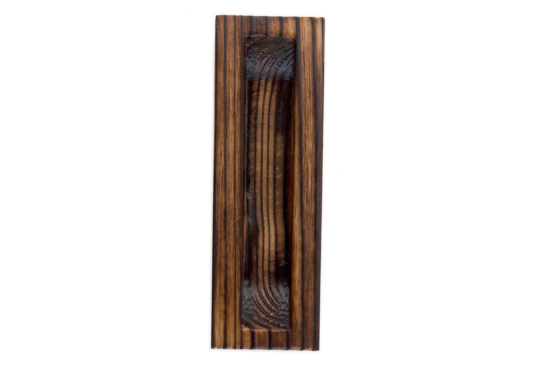 抗ウイルス仕様 即納送料無料! SIAA取得 の室内引戸用の木製引手 BIDOOR ビドー 生地 2020新作 PW-5111 焼杉巾広両チリ長角引手 118×37
