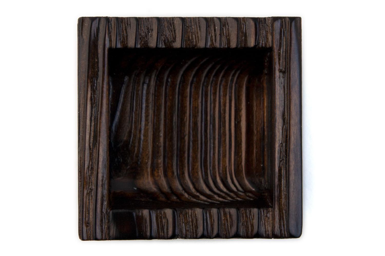 初売り 抗ウイルス仕様 至高 SIAA取得 の室内引戸用の木製引手 BIDOOR ビドー 焼杉両チリ正角引手 50×50 茶染 PW-5122