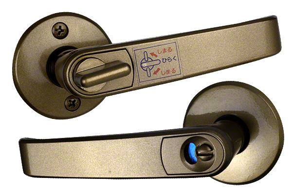TAIKO(タイコー) ターボレバーハンドル No.2100 AM(アンバー) 表示錠 バックセット51mm 20セット入