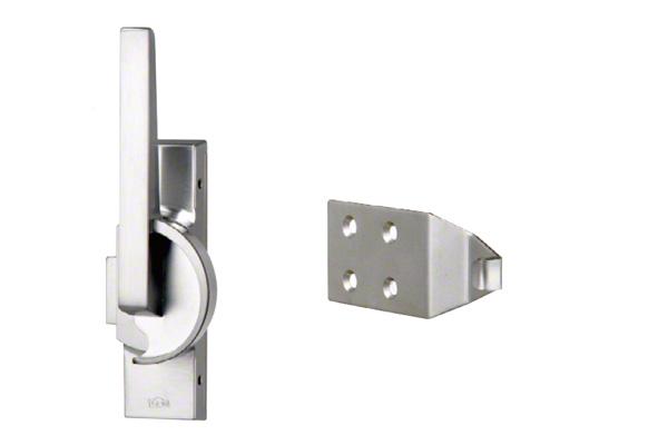 開き小窓用の窓締錠です。 BEST(ベスト) No.3491 クレセント(左) サテンクローム (コード3491-1-2)