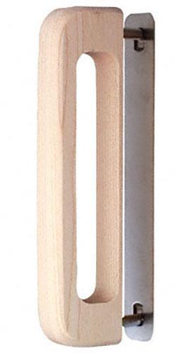 芯材にダンボール等を使用している襖用の木製取手。 30本入 BIDOOR(ビドー) HW-195-S ハサミ止トレイン取手 白木(生地) サイズ大(特売)