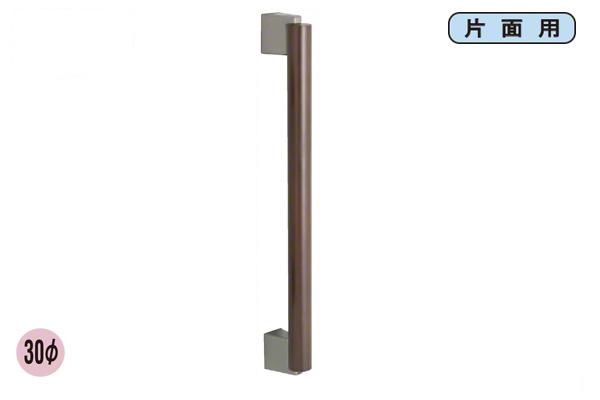 20本入 FROG(K9) 響ハンドル 片面 ブラッククローム/ブラック 30φ600mm (HBK-30-K-600-BLA)