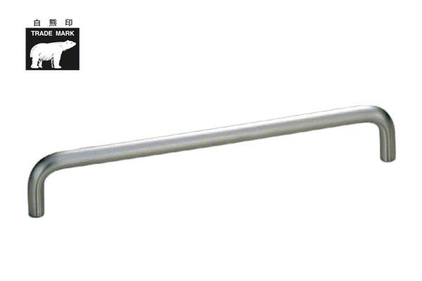 10本入 シロクマ HL-10 ステン10φ丸棒ハンドル ヘアーライン 200mm