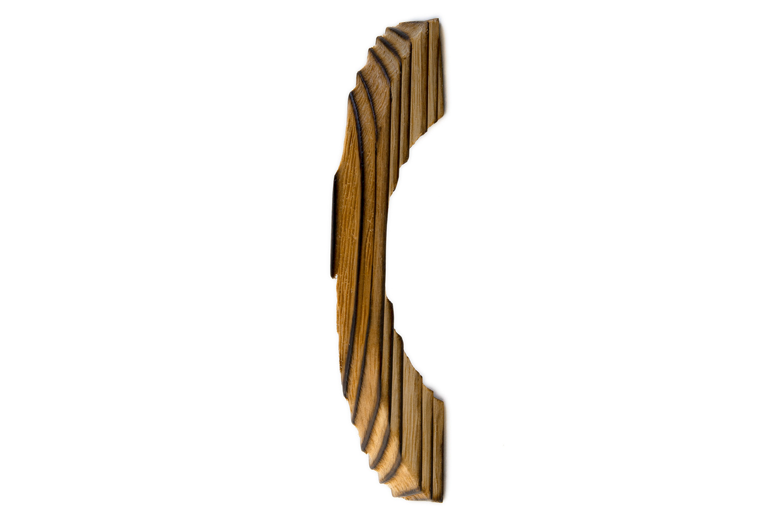 本店 抗ウイルス仕様 SIAA取得 の木製取手 店 BIDOOR ビドー ピッチ64 生地 焼杉取手 HW-5141 小