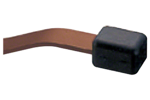 No.417 上框戸当り 古代ブロンズ 125mm 黒ゴム (コード417-125-3-1) 20個入 戸当(ドア付/壁付),ステンレス,茶色系,BEST(ベスト)