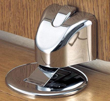 独自のキャッチ機構で扉を開けた状態にできる戸当り Shibutani 新品 シブタニ DCI-81CR 年末年始大決算 ‐ 光沢クローム ロック機能付き ドアストッパー