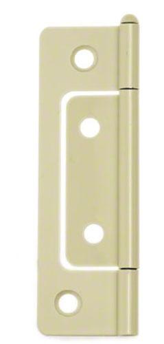 100枚入 BIDOOR(ビドー) BF-80 鉄 フラッシュ丁番 クリーム (木ネジ付) 76mm(特売)