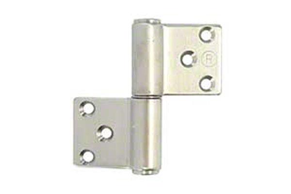 12枚入 クマモト PLUS ステンレス KJ面付旗丁番(ST芯) HL 3×76(右) (K-33A-76 R HL)