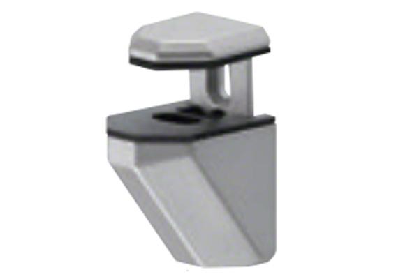 20個入 シロクマ TG-3 棚グリップC形 シルバー Mサイズ (対応棚板厚2-21mm)