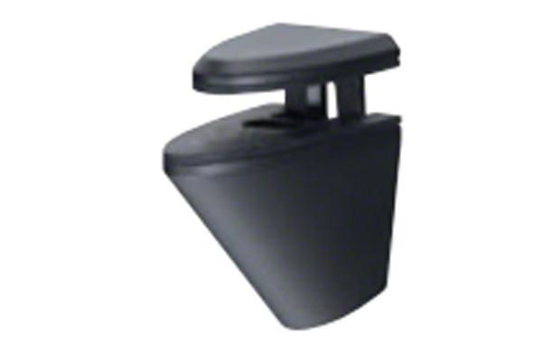 20個入 シロクマ TG-10 棚グリップN形 黒艶消 Mサイズ (対応棚板厚2-21mm)