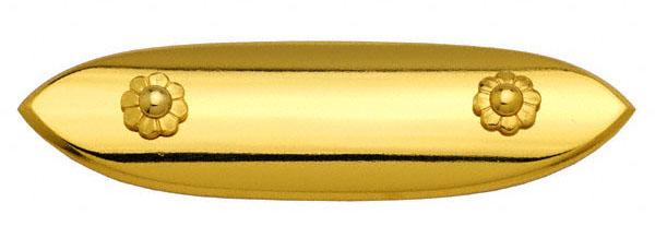 廊下の手すりや橋の欄干の上部に装飾として使用する金物です。 BIDOOR(ビドー) EC-21 笹金物 一文字形 本金メッキ 80号