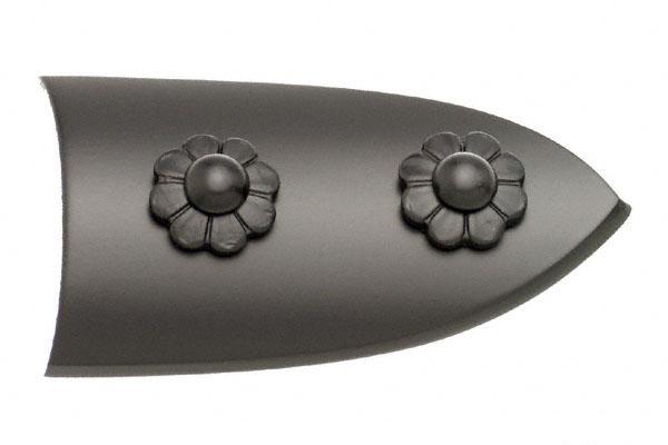BIDOOR(ビドー) EC-25 笹金物 半笹形 黒 50号 4個入