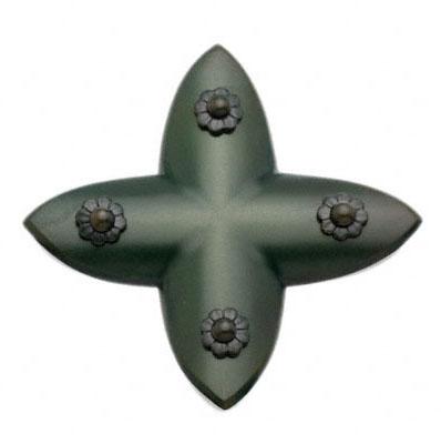 BIDOOR(ビドー) EC-83 笹金物 十字形 青銅 45号 4個入