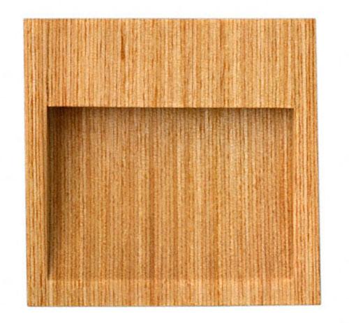 木製の襖引手。白樺シリーズの開用扉角形です。 20個入 BIDOOR(ビドー) MW-52 白樺開用片チリ角 クリアー サイズ大(特売)