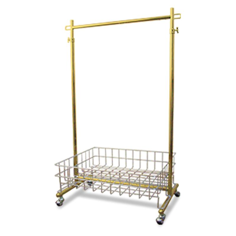 期間限定5%OFF プロS600オールゴールドハンガーラック(バスケット付) 幅60cm 耐荷重100kg