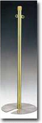 ベルトパーティション (フロアガイドポール )GY95A-75G ゴールドメッキ 日本製 国産 送料無料代引無料 ガイドロープ用本体 丸フック 重ねて収納