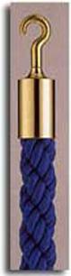 カラーロープ Aタイプ Φ25mm フック:ゴールド ロープ:ブルー 日本製 国産 送料無料 代引手数料無料 ガイドロープ 丸フック用 120cm 取付簡単 仕切り