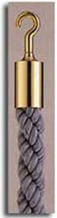 カラーロープ Aタイプ Φ25mm フック:ゴールド ロープ:グレー 日本製 国産 送料無料 代引手数料無料 ガイドロープ 丸フック用 120cm 取付簡単 仕切り